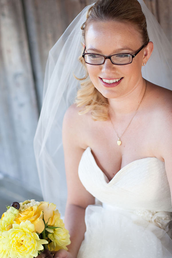 Bride with glasses