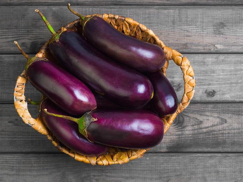 eating eggplants